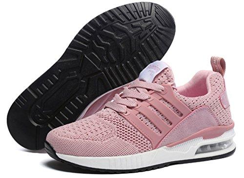 Confort Lger Hishoes Chaussures Pour Femme Course Shoes Sport Baskets De Gym Fitness Rose Absorbant Taille Air Marche wxv1wRHz