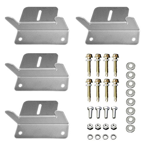 HQST Solar Panel Mounting Z Brackets with Nuts and Bolts - 4 Sets of RV, Boat, Roof, Wall and Other Off Gird Installation