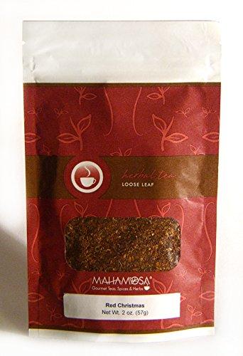 - Mahamosa Red Christmas 2 oz - Rooibos Herbal Tea Blend Loose Leaf (Looseleaf) (with apple, cinnamon, orange, almond)