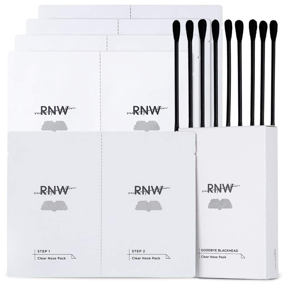 RNW DER. Two Step Clear Nose Pack Pore Strips (5 PCS) Blackhead Removal Simple Kit From Blackheads To Pore Care Blackhead Strips for Nose No Pains With Pure Cotton Sheet