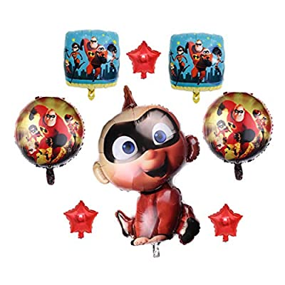 8Pack The Incredibles Balloons 2 Jack Jack Party Supplies Birthday Incredibles Balloon for Baby Shower Bouquet Decorations: Toys & Games