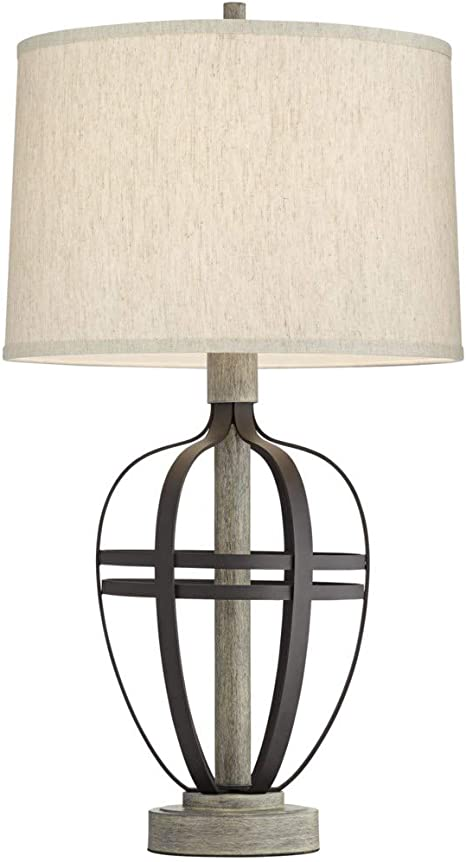 Pacific Coast Lighting Crestfield Cove Table Lamp With Usb Port Farmhouse Industrial 1 Light