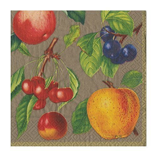 Botanical Chintz Bronze Dinner Napkins, Set of 2