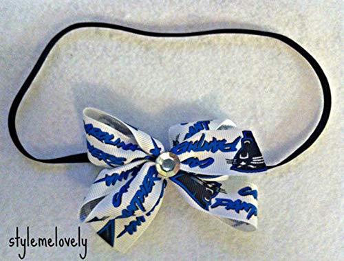 Carolina Panthers Baby Girl Boutique Bow Elastic Headband]()