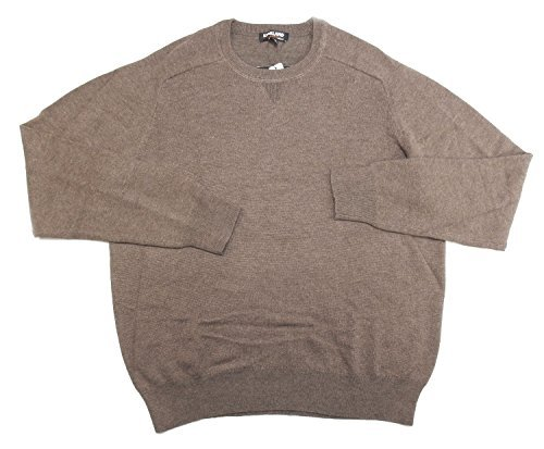 Kirkland Signature Men's Size X-Large Extra Fine Wool Pullover Sweater, Brown