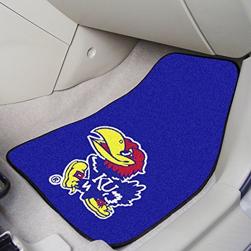 - FANMATS NCAA University of Kansas Jayhawks Nylon Face Carpet Car Mat