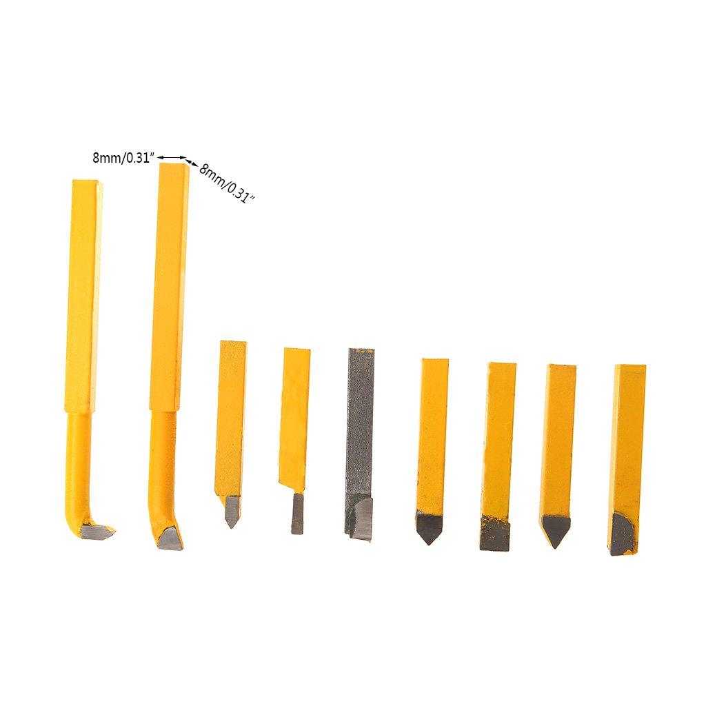 Yunso - Juego de 9 herramientas de corte de 8 mm, punta de carburo