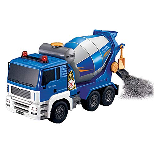 - RC Mixer Truck 1:20 Large Rechargeable car Cement Concrete Pump Truck Cement Tanker Inertia Engineering Vehicle Kids Large Toy Gift