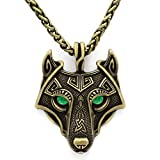 TTKP Norse Vikings Pendant Necklace Norse Wolf Head Necklace Original Animal Jewelry Wolf Head hange