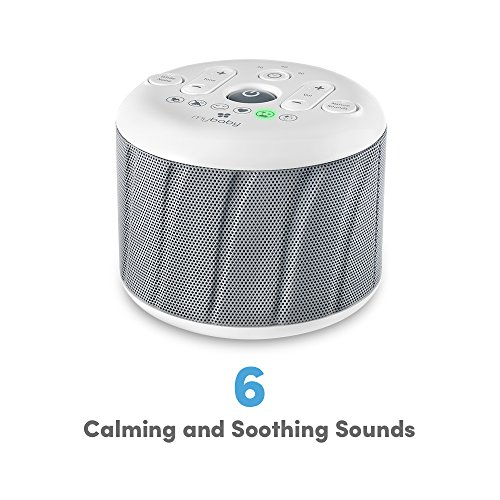 MyBaby, Deep Sleep White Noise Machine 6 Soothe, Mask, Ocean & Twinkle, | Adapter Batteries | Compact & Portable