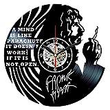 basement wall ideas Queen Clocks Zappa Vinyl Clock Record Wall Art - Frank Zappa Vintage Decor - Retro Gifts Ideas