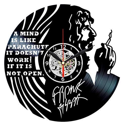 Queen Clocks Zappa Vinyl Clock Record Wall Art - Frank Zappa Vintage Decor - Retro Gifts Ideas
