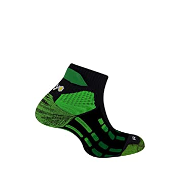 Thyo Pody aire Trail-Calcetines, color blanco y verde verde Talla:41/