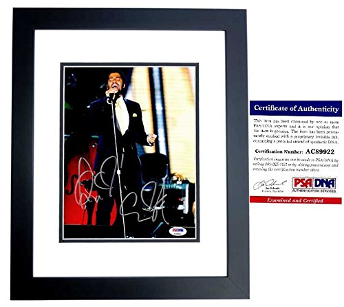 Eric Benet Signed - Autographed R&B Soul Singer in Concert 8x10 Photo with PSA/DNA Certificate of Authenticity (COA) BLACK CUSTOM FRAME from PSA