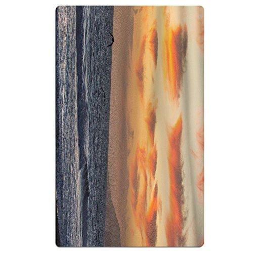 Microfiber Beach Towel Malibu Beach Sunset Seabird Bath Towel Lightweight Fast Dry Towel Large Blanket Mat - Large, Sand-proof Design (31.5in X 51.2in)