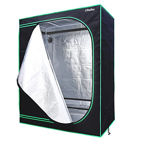 $54.99 indoor grow tent kit Ohuhu 48″x24″x60″ Plant Grow Tent, Mylar Hydroponic Plant Growing Tent for Indoor Gardening 2019