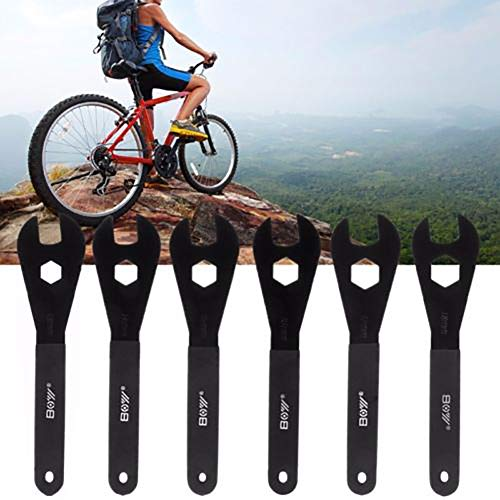 Spanner,dezirZJjx 13mm-18mm Cone Spanner Wrench Spindle Axle Bicycle Bike Cycling Repair Tools - 17mm
