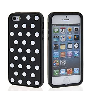 SHOPPINGBOX Carcasa de TPU Gel Funda Caso Tapa silicona Case Cover Para Apple iPhone 5 5G 5S Negro Blanco