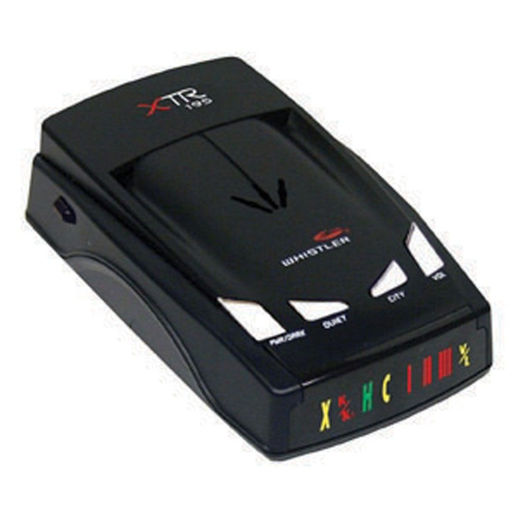 Whistler XTR-195 Laser Radar Detector; Provides Distinct Audio Warnings for X, K, Ka Band Radar, Safety Radar, Laser and VG-2; 360° Maxx Coverage Protects From Front, Sides, And Rear by Whistler