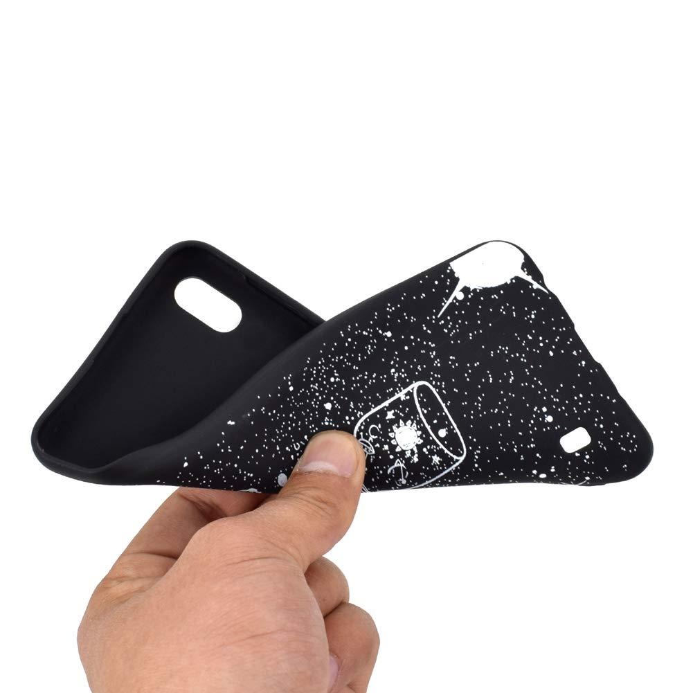 Funda Protectora de Funda de Negro Puro con Brillo de Silicona TPU Ultra Brillante y Creativa a Todo Color para Samsung Galaxy A10 Gato HYcase Estuche para Samsung Galaxy A10