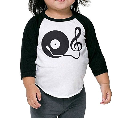 Price comparison product image Record Player Kid's Sleeve Raglan Clothes Unisex 5-6 Toddler Design