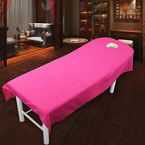 MagiDeal Rose Red + Gray Beauty Massage SPA Treatment Polyester Bed Cover 80190cm by Unknown (Image #3)