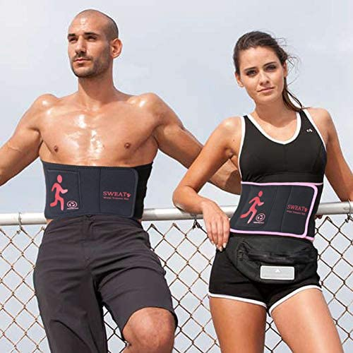 NOSUBO Sweat Waist Trainer Belt, Waist Trimmer with Pockets for Men & Women for Weight Loss 7