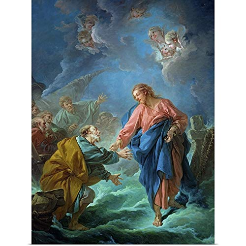 GREATBIGCANVAS Poster Print Entitled St. Peter Invited to Walk on The Water, 1766 by Francois Boucher 18