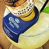 CoronaRita Bottle Holders - Set of 6 | CoronaRita Clips for Schooner & Goblet Glasses | Coronita Rita Clips, Beergarita Clips, Mexican Bulldog Margarita Clips