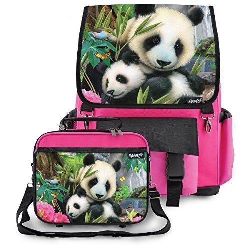 Kidaroo Precious Pandas Backpack Lunchbox