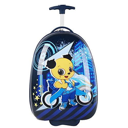 15.7 Height Shanmao Kids Rolling Luggage Egg-shape Hard side Hard Shell motorcycle 15.7 Height