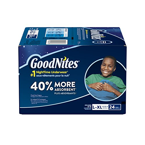 Large Product Image of GoodNites Bedtime Bedwetting Underwear for Boys, L-XL, 24 Ct. (Packaging May Vary)