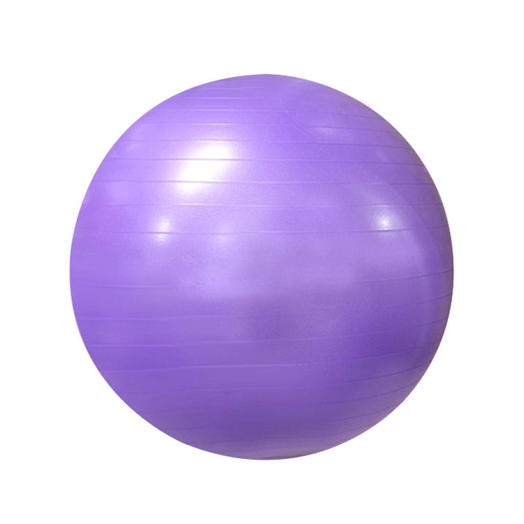Anti-Burst Exercise Ball, Anti-Slip Gym Ball Stability Ball with Pump for Yoga Pilates Fitness Physical Therapy Gym and Home Exercise (Color : Purple, Size : 55cm)