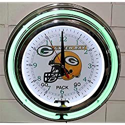 Lotus energy 13 Neon Wall Clock Green Bay Packers Garage Man Cave Pub Bar Signs Home Decor Vintage