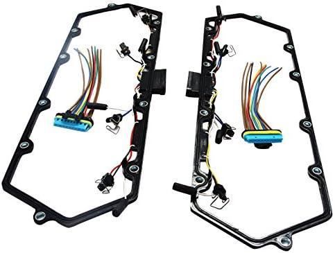 Para Ford 7.3L V8 Diesel Tapa Válvula w/inyector & Bujía de Incandescencia Conjunto Arnés