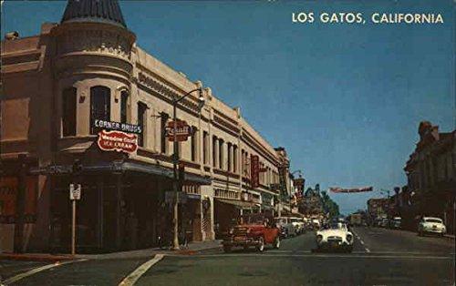 Amazon.com: Street Scene Los Gatos, California Original Vintage Postcard: Entertainment Collectibles