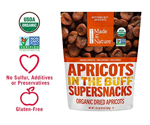 - Made In Nature Organic Dried Apricots 20 Ounce (Pack of 1) - Non-GMO Vegan Dried Fruit Snack