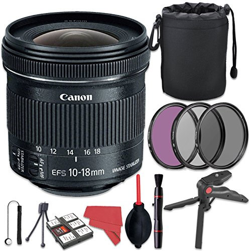 Canon EF-S 10-18mm f/4.5-5.6 IS STM Lens + Deluxe Accessory