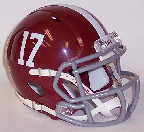 New Riddell Alabama Crimson Tide #17 Speed Mini Football Helmet