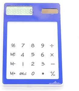 oficina estudiante calculadora cient/ífica transparente color rosso free size escuela Mini calculadora port/átil calculadora solar con pantalla LCD grande y botones grandes