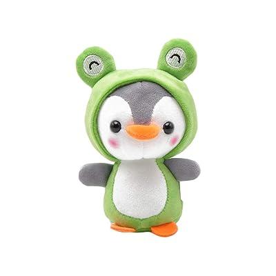 UTUT Keychain Cute Penguin Bee Animal Plush Doll Pendant Keychain Ring Key Holder Bag Decor Green: Toys & Games