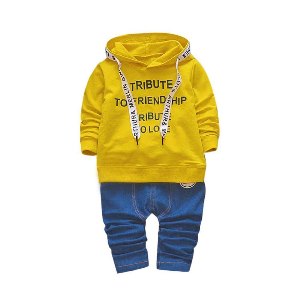 Bambina 18 Mesi Vestiti Bambina Vestiti Di Neonati Vestiti Bambina Neonato Vestiti Bambino Bambini Neonati Ragazze Ragazzo Abiti Con Cappuccio T-Shirt Top + Pantaloni Vestiti Set Morwind