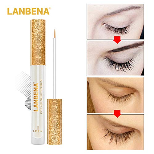 SUSSMAI Eyebrow Eyelash Fast Rapid Growth Liquid Enhancer Nutrient Solution Nourishing  LANBENA Lantana 4.5ML Eyelash Growth Liquid Eyebrow Growth Liquid Cream LBF01