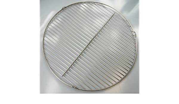 Diámetro de 64, 5 cm Acero Inoxidable Barbacoa con 3 ojales parrilla, también para barbacoa 67er Weber Adecuado, .4 mm de diámetro.