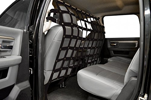Dirty Dog 2014-2018 Dodge Ram Pick Quad Cab Fits Pet Divider Black PDDGPU14BK (Dirtydog)