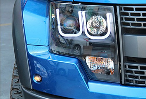 GOWE Car Styling For Ford Raptor headlights 2009-2014 head lamp led DRL front Bi-Xenon Lens Double Beam HID KIT Color Temperature:6000k;Wattage:55w 4