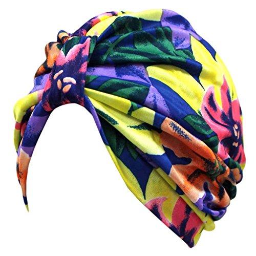 Luxury Divas Multicolor Print Turban Hat Sun Cap