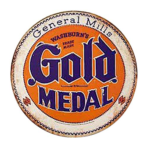 Nostalgic Gold Medal Flour General Mills Rustic Metal Sign Farmhouse Kitchen Country Cafe Decor (Medals Country Gold)