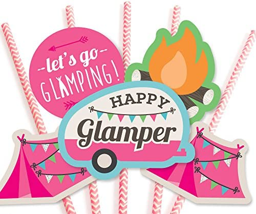 Amazon.com: Big Dot of Happiness Let s go Glamping – paja ...