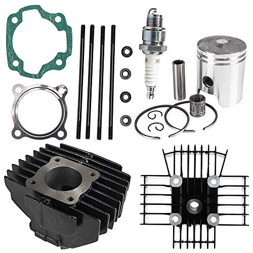 80cc Engine Piston Cylinder Head Gasket Top End Kit For 1983-1990 Yamaha PW80 Big Wheel BW80 Replaces 21W-11111-00-00